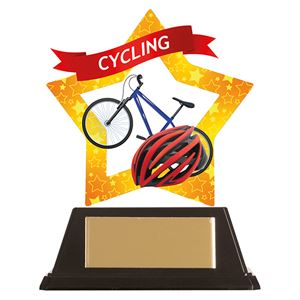 Mini-Star Cycling Acrylic Plaque - AC19644