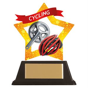 Mini-Star Cycle & Helmet Acrylic Plaque - AC19645