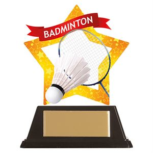 Mini-Star Badminton Acrylic Plaque - AC19634