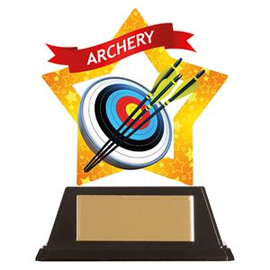 Mini-Star Archery Acrylic Plaque - AC19630