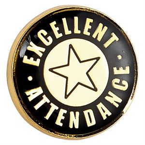 Heritage Excellent Attendance Pin Badge - SB19033B