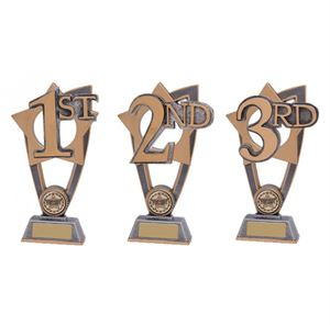 Star Blast 1st, 2nd and 3rd Place Trophy - PL18015/6/7