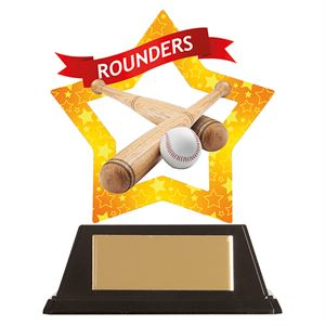 Mini-Star Rounders Acrylic Plaque - AC19684