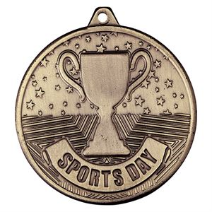 Gold Cascade Sports Day Medal (size: 50mm) - MM19166G