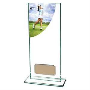 Colour Curve Female Golf Glass Trophy - CR4681