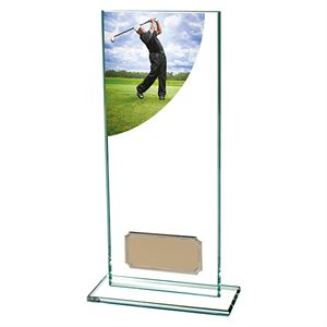 Colour Curve Male Golf Glass Trophy - CR4684