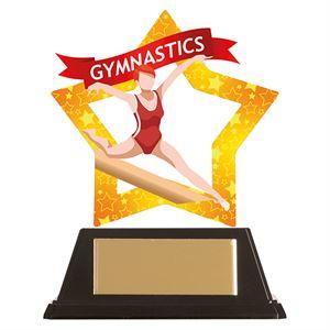 Mini-Star Female Gymnastics Acrylic Plaque - AC19669
