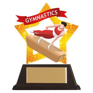 Mini-Star Male Gymnastics Acrylic Plaque - AC19670