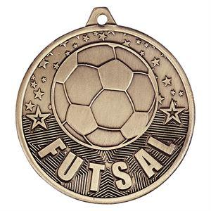 Gold Cascade Futsal Medal - MM19034G