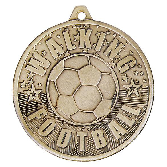 Gold Cascade Walking Football Medal - MM19035G