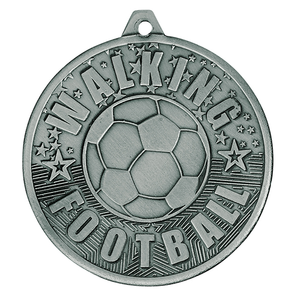 Silver Cascade Walking Football Medal - MM19035S