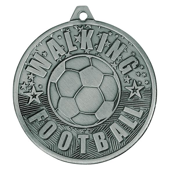 Silver Cascade Walking Football Medal - MM19035S