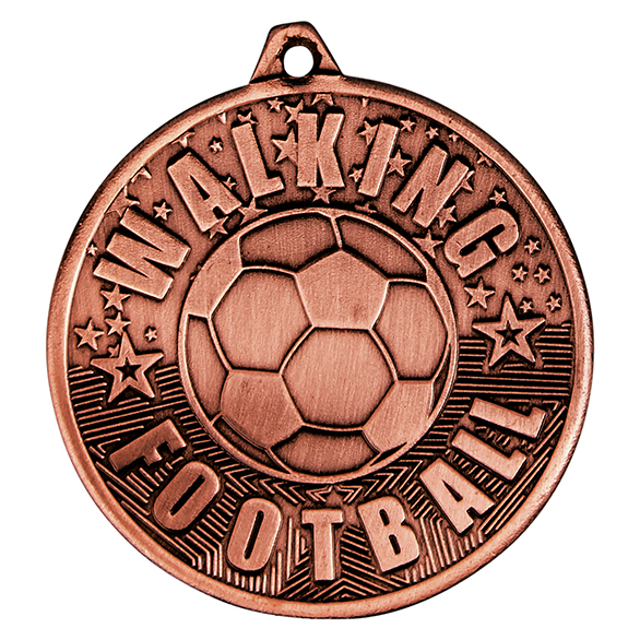 Bronze Cascade Walking Football Medal - MM19035B