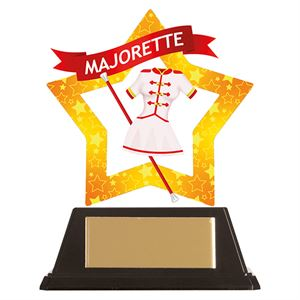 Mini-Star Majorette Acrylic Plaque - AC19673