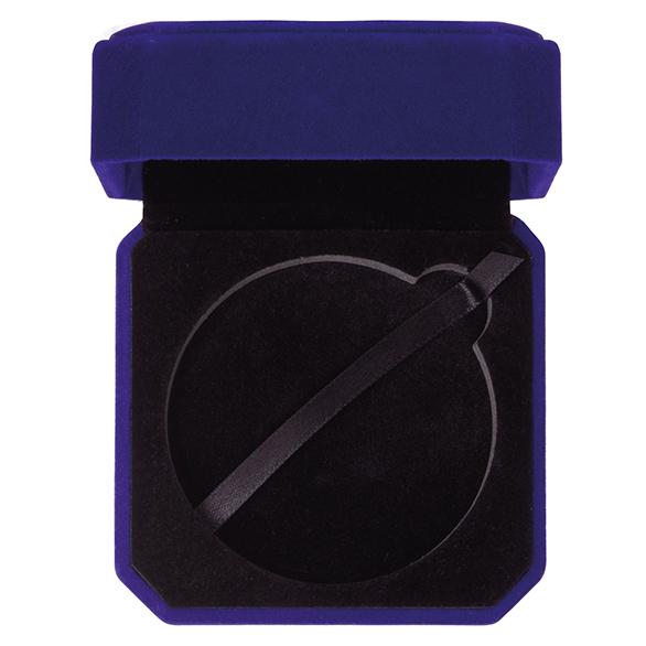 Aspire Blue Velour Medal Box - MB19159