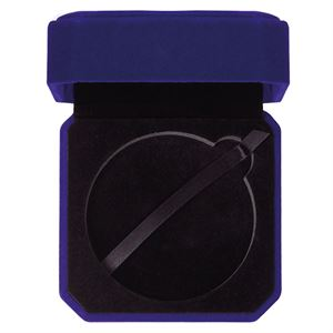 Aspire Blue Velour Medal Box - MB19159