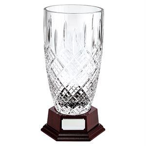 Lindisfarne St Bernica Crystal Vase - CR19604 With Base