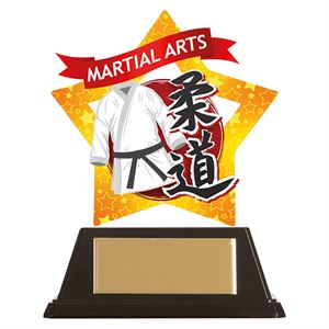 Mini-Star Judo Acrylic Plaque - AC19674