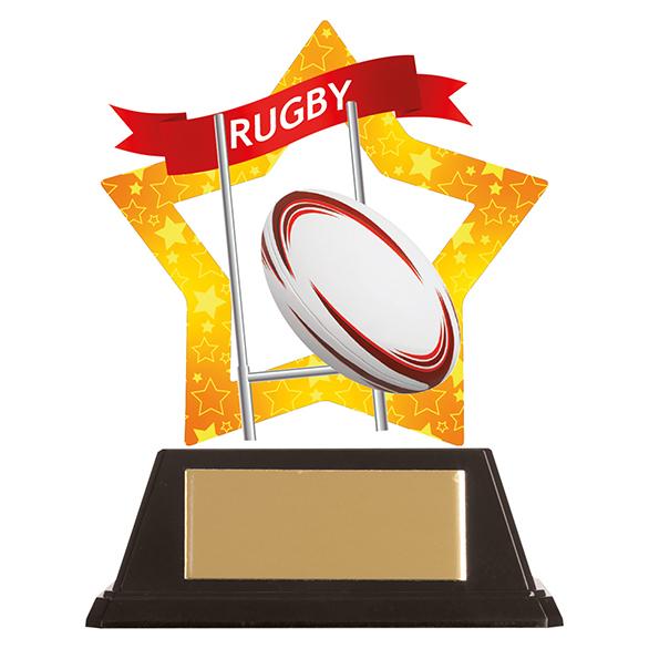 Mini-Star Rugby Acrylic Plaque - AC19686