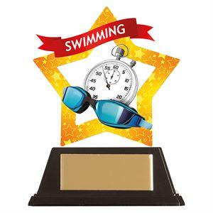 Mini-Star Swimming Acrylic Plaque - AC19693