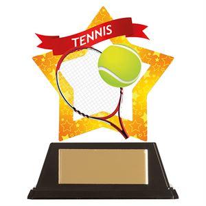 Mini-Star Tennis Acrylic Plaque - AC19698