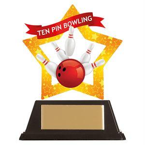 Mini-Star Tenpin Bowling Acrylic Plaque - AC19699