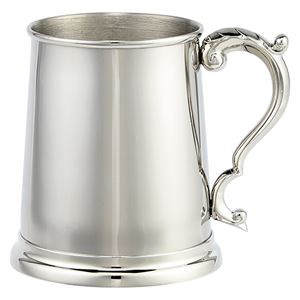 The Augustine Polished Steel Glass Bottom Tankard