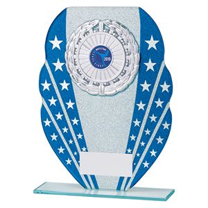 Tri-Star Multisport Glass Plaque Blue - CR19616
