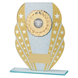Tri-Star Multisport Glass Plaque Gold - CR19615