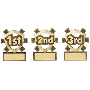 1st, 2nd & 3rd Place Mini Shield - RM611