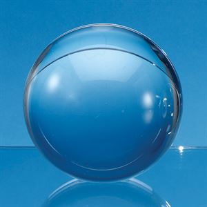 Optical Crystal Sphere with a Flat Base - FC156