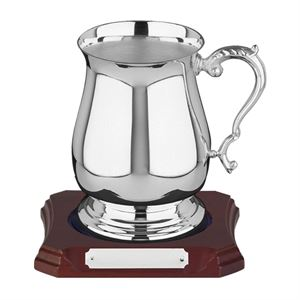 Silver Plated One Pint Georgian Tankard - 698B