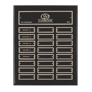 High Gloss Black Finish Plaque (24 winners) - WP16