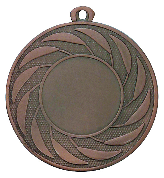 Pack of 1000 Radial Medals with Ribbons & Logo Inserts (50mm) - M9312.26/SET1000 Bronze