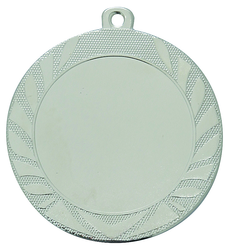 Pack of 500 Caesar Medals with Ribbons & Logo Inserts (70mm) - M9313.02/SET500 Silver
