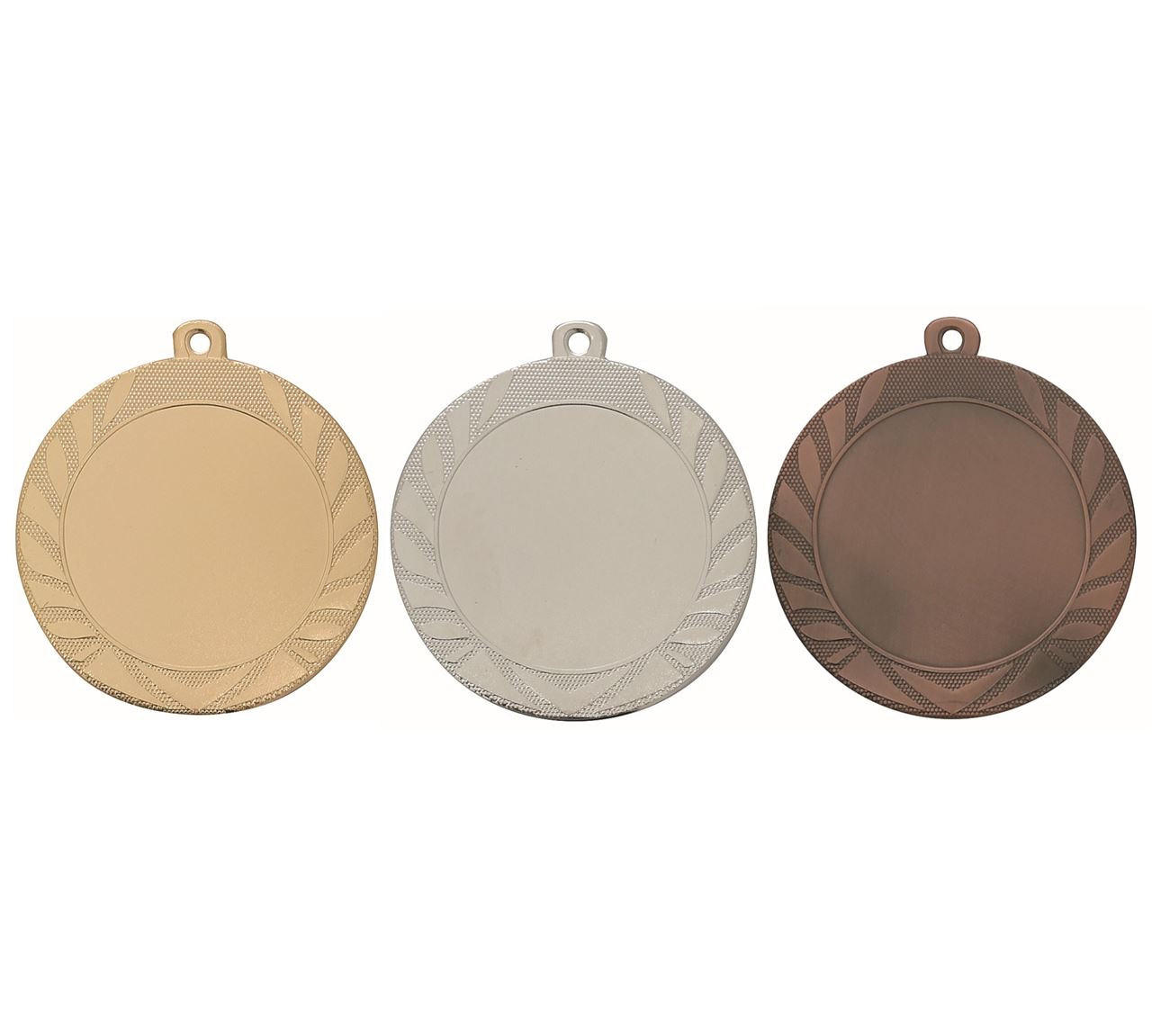 Pack of 1000 Caesar Medals with Ribbons & Logo Inserts (70mm) - M9313/SET1000