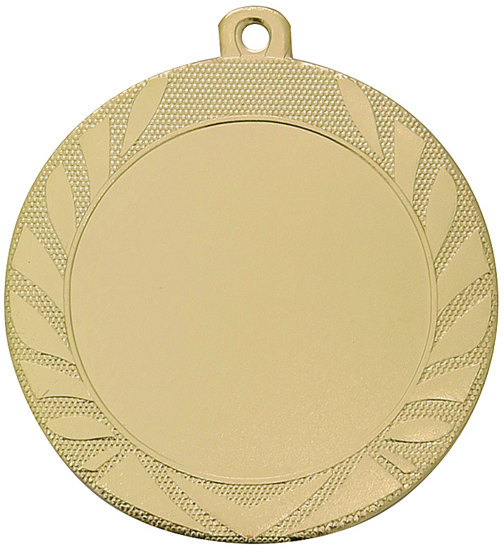 Pack of 1000 Caesar Medals with Ribbons & Logo Inserts (70mm) - M9313.01/SET1000 Gold
