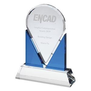 Jule Clear & Blue Crystal Award - AC136