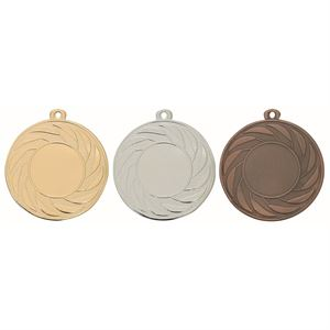 Pack of 500 Radial Medals with Ribbons & Logo Inserts (50mm) - M9312/SET500