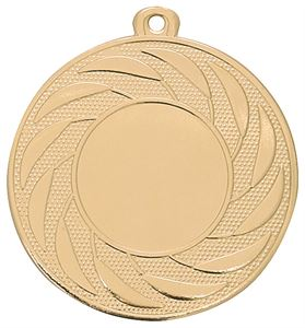 Pack of 1000 Radial Medals with Ribbons & Logo Inserts (50mm) - M9312.01/SET1000 Gold
