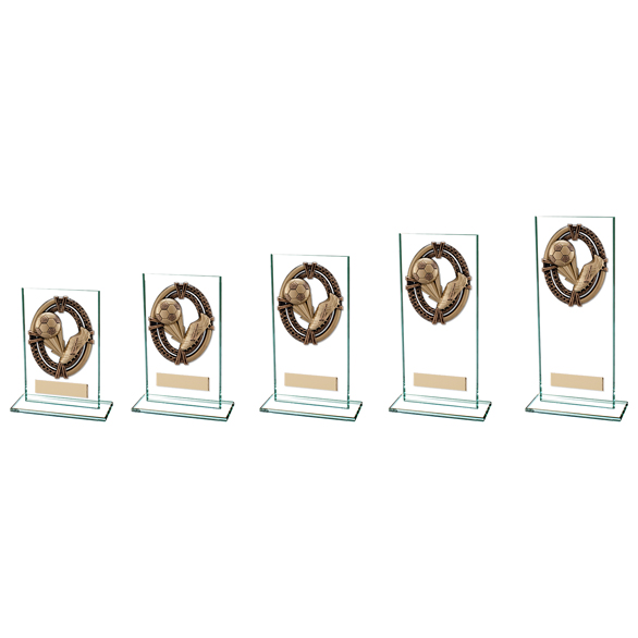 Maverick Legacy Glass Football Trophy - CR16010 All Sizes