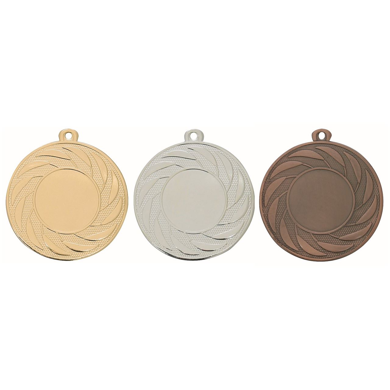 Pack of 100 Radial Medals with Ribbons & Free Logo Inserts (50mm) - M9312.01/SET100