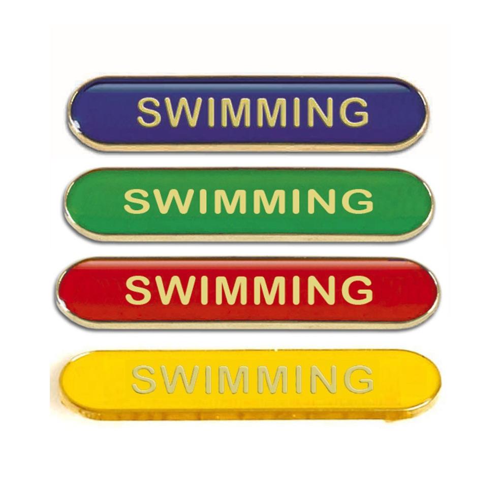 Swimming Metal School Bar Badge - SB050