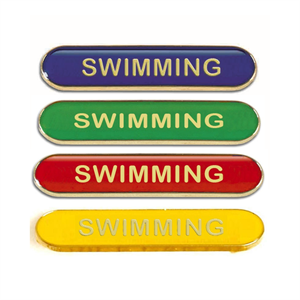 Swimming Metal School Bar Badge