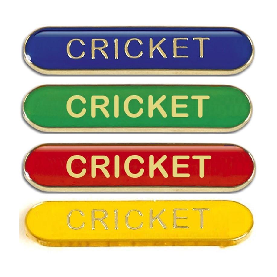 Cricket Metal School Bar Badge - SB055