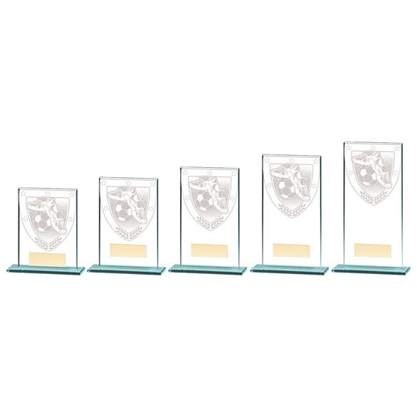 Millennium Football Boot & Ball Jade Glass Award - CR20377 5 Sizes