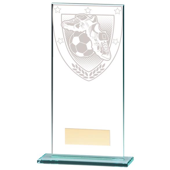Millennium Football Boot & Ball Jade Glass Award - CR20377E