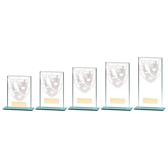 Millennium Football Jade Glass Award - CR20378 5 Sizes