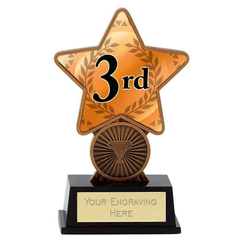 Bronze Badminton Superstar Mini Trophy - PK289B will have badminton image