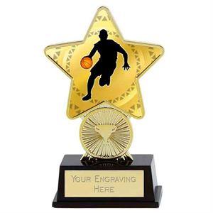 Gold Basketball Superstar Mini Trophy - PK287BA